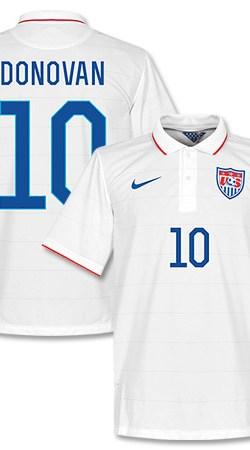 USA Home Donovan Jersey 2014 / 2015 (Fan Style Printing) - S