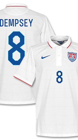 USA Home Dempsey Jersey 2014 / 2015 (Fan Style Printing) - S