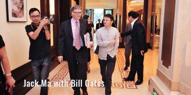 Jack Ma with Bill Gates