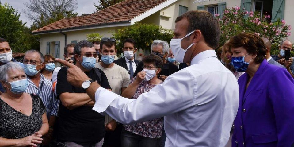 """Dans le Gers, Emmanuel Macron appelle à se """"battre"""" face à la crise économique et sanitaire"""