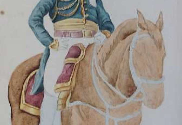 L'aquarelle représentant le Maréchal Lannes