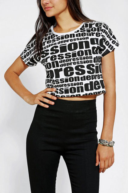 urban outfitters depression t shirt - urban outfitters images - sugarscape.com