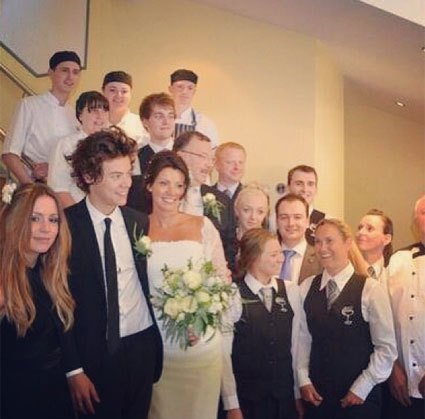 Harry Styles in best man at mum Anne Cox's wedding - PICS