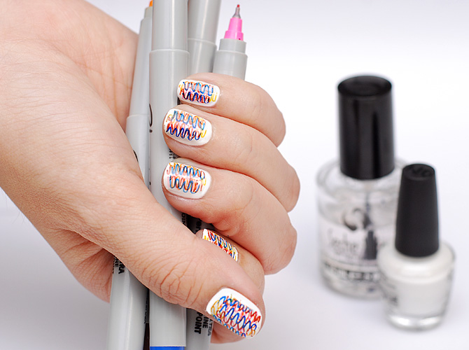 Diy Nail Art Sharpie Nails