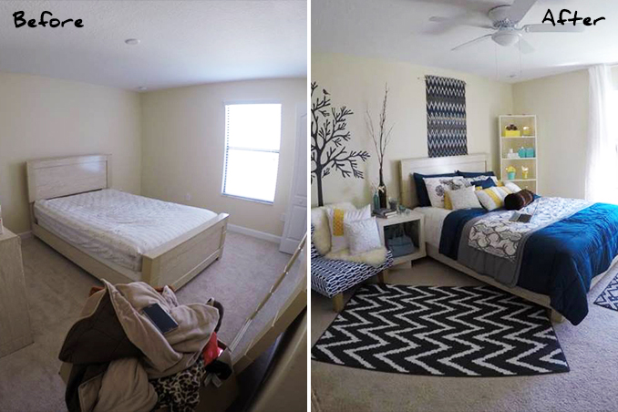 Mini Makeovers: 7 Bedroom Decorating Ideas From A Real