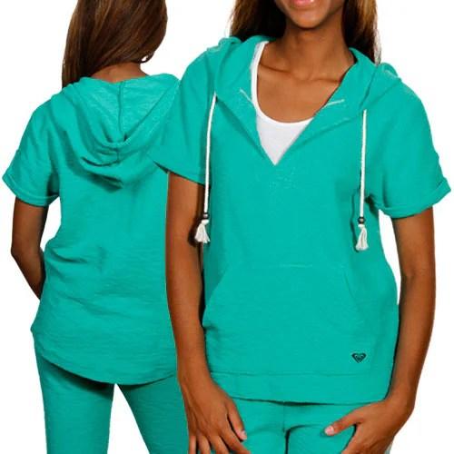 Roxy Juniors Pearl Drive Hoodie T-shirt – Moroccan Mint