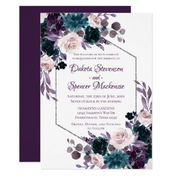 Turquoise Wedding Invitations Swan S