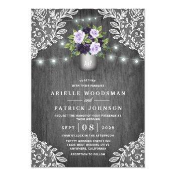 Purple Wedding Invitations Swan S