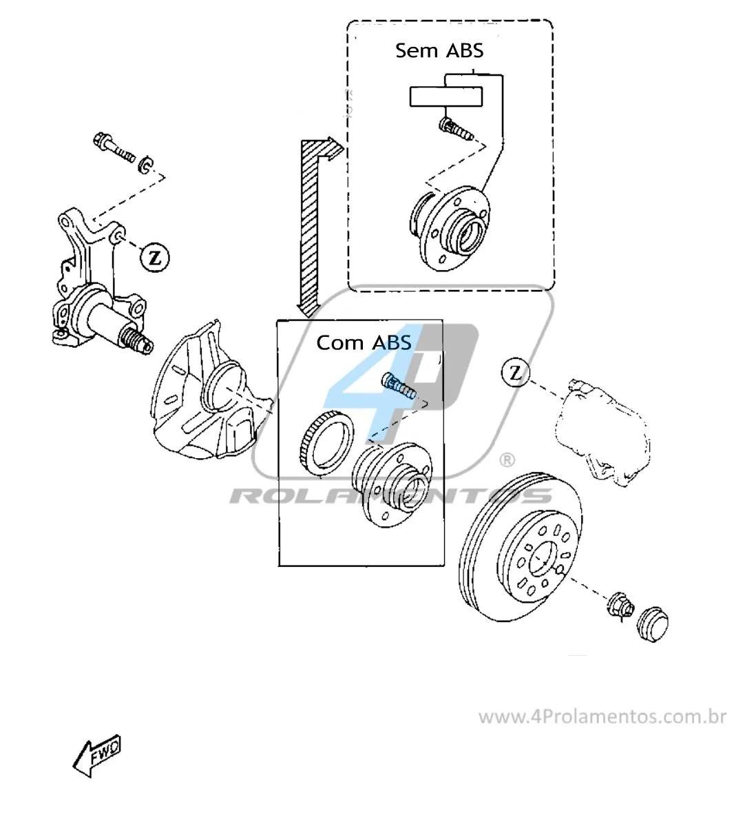 Cubo De Roda Traseira Mazda Protege