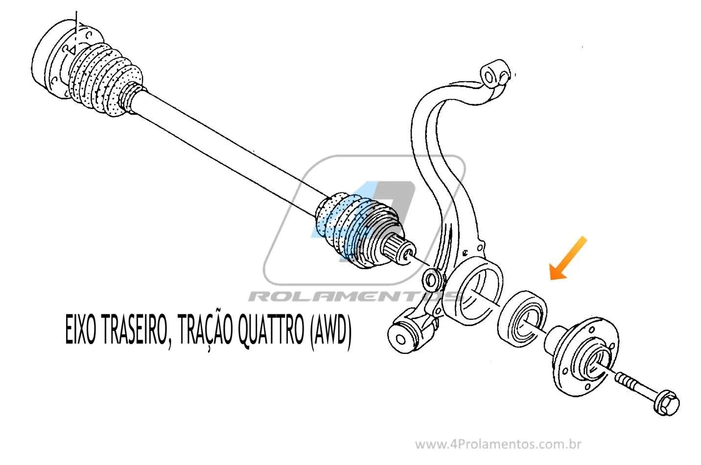 Rolamento De Roda Traseira Audi Rs4