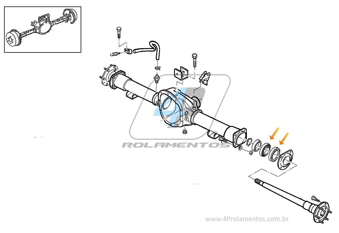 Rolamento De Roda Traseira Chevrolet S10 E Blazer Albarus