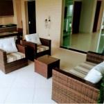 Conjunto Sofa De 2 Lugares E 2 Poltronas Mesa Retangular Com 2 Bancos E 2 Cadeiras