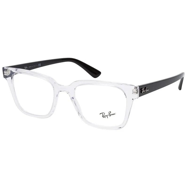 oculos de grau ray ban rx4323vl transparente quadrado tamanho 51