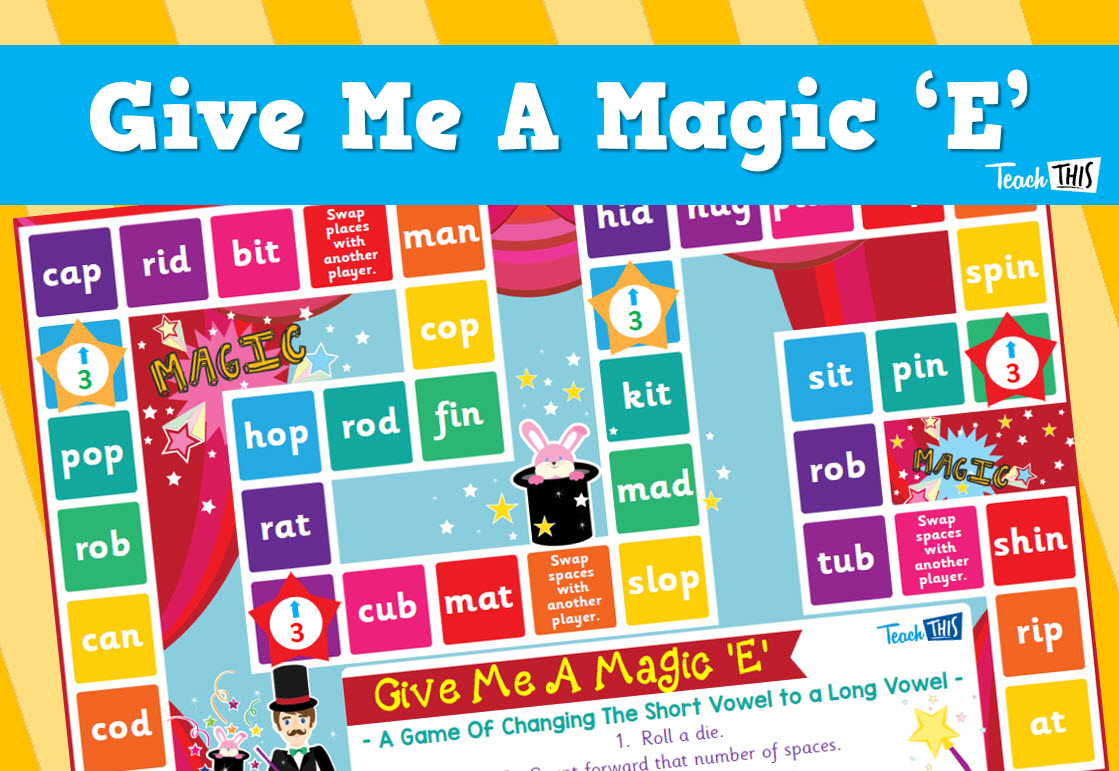 Give Me A Magic E Board Game Teacher Resources And Classroom Games Teach This