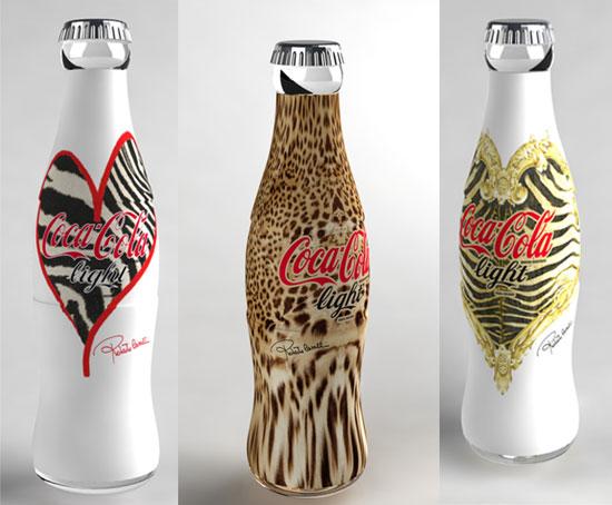 Os 3 modelos de Coca-Cola, por roberto Cavalli