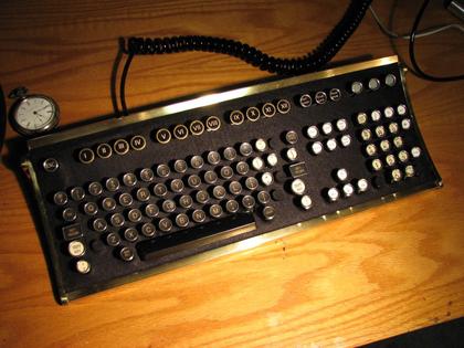 oldskool typewriter keyboard