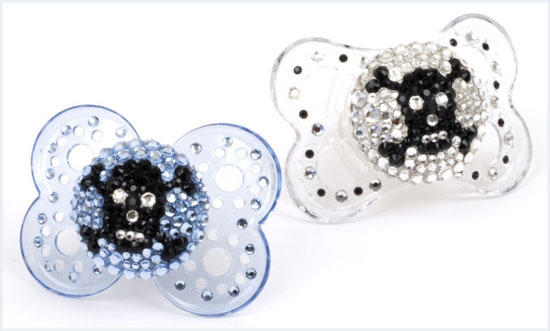 pacifiers with skulls and crossbones