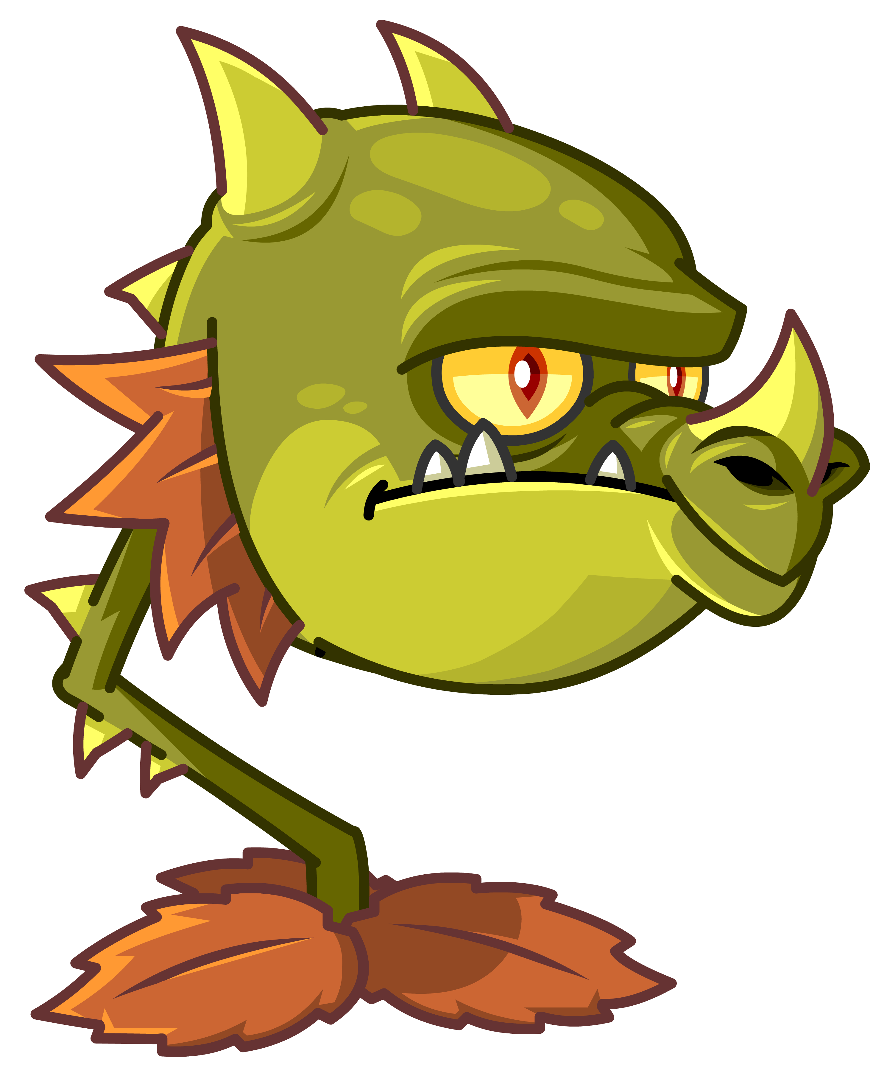 this character art of the new snapdragon bears the expression of a pvz