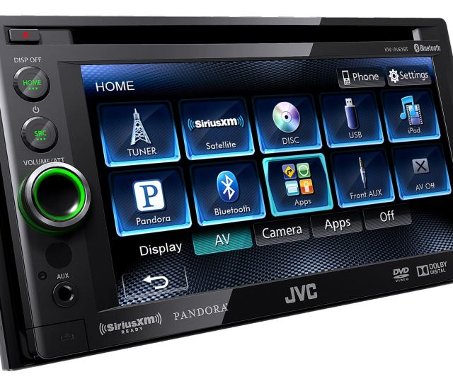 The Jvc Kw Avbt Marries Old Style Car Stereo Design With New Style Display Navigation