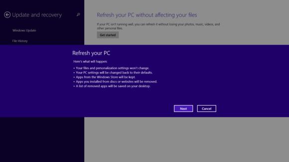 Windows 8 Refresh PC