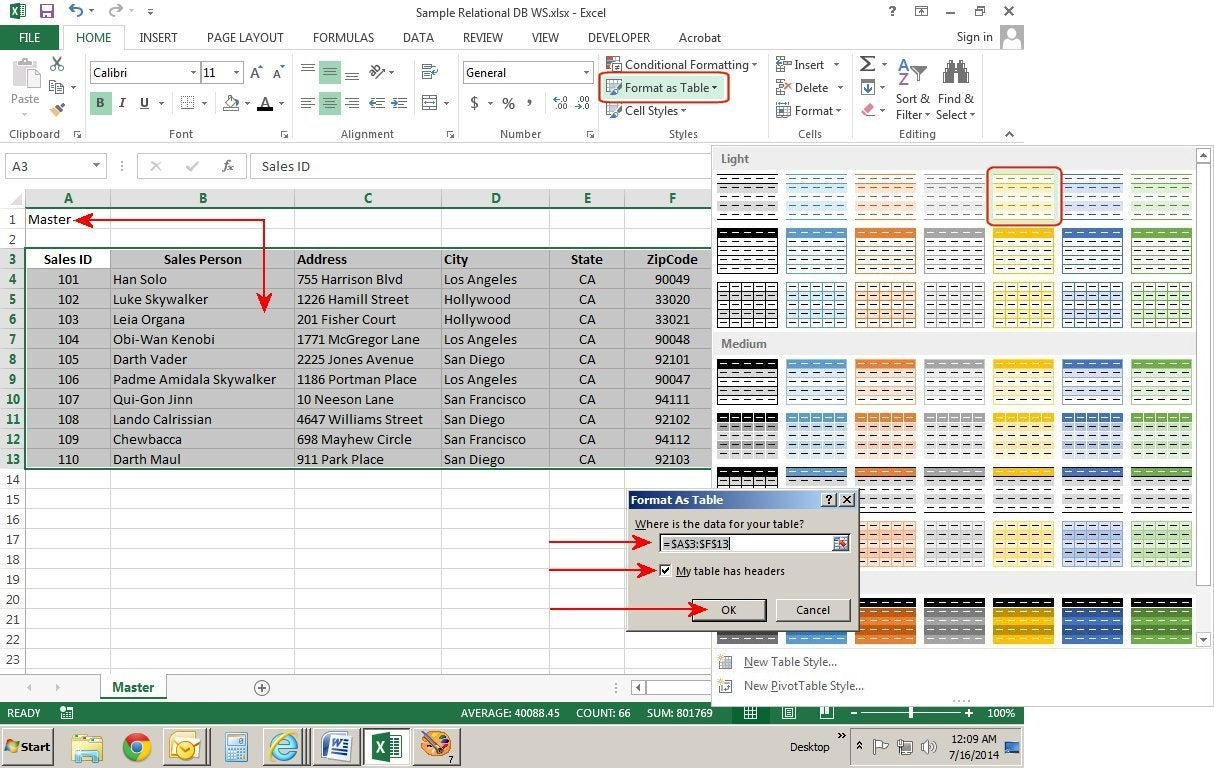How To Create Relational Databases In Excel