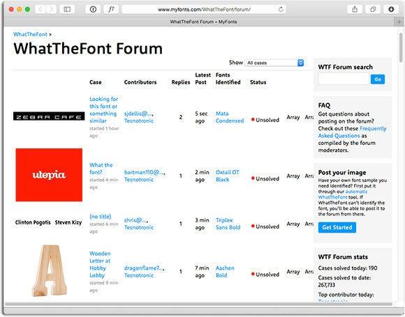 WhatTheFont Forum