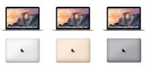 MacBook in three colors