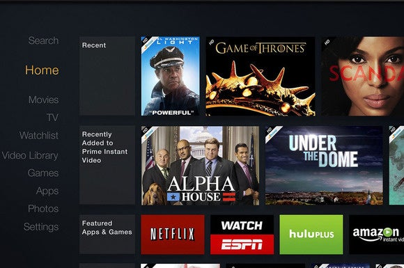 Amazon Fire TV user interface