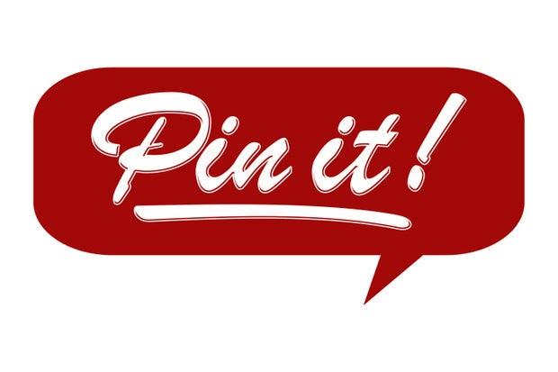 Pinterest pin it badge