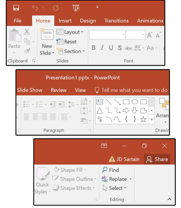 New 2016 PowerPoint Ribbon + Tab menus - www.office.com/setup