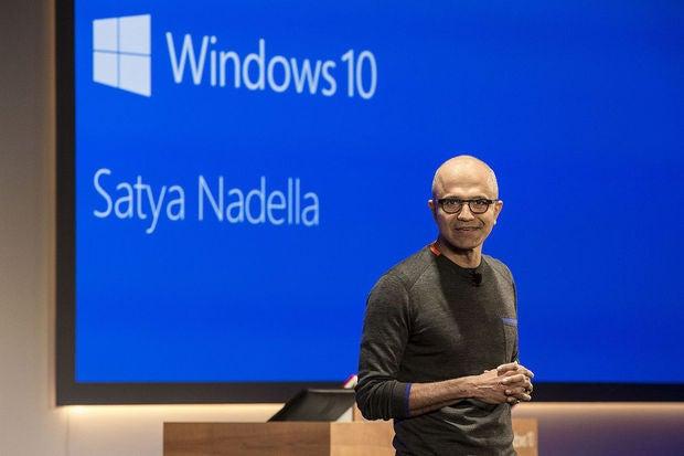 windows 10 satya nadella