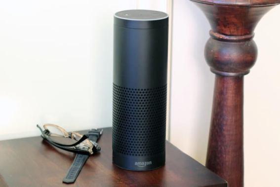 An image of an Amazon Echo 2