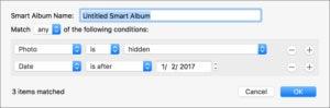 mac911 smart album hidden