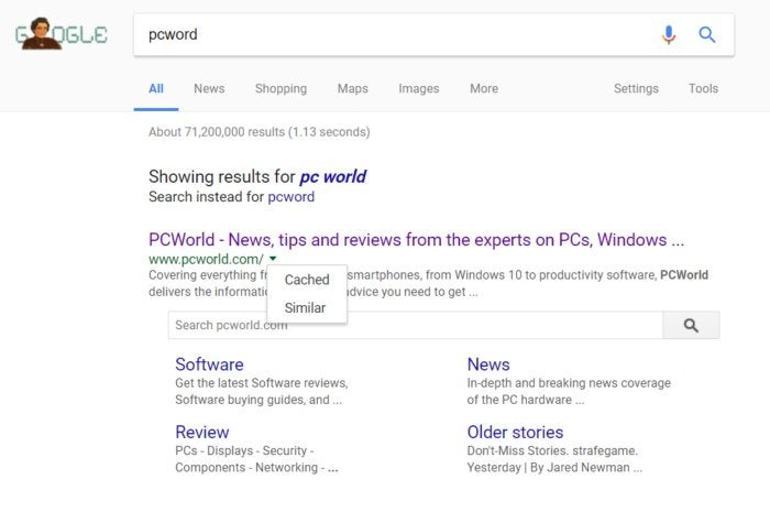 google search cached