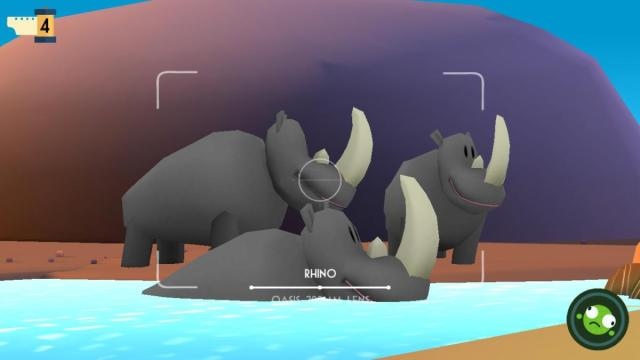 in game zoom shot of rhinos