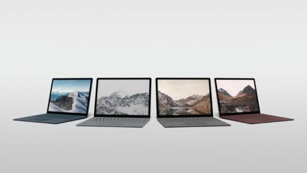 microsoft surface laptop row