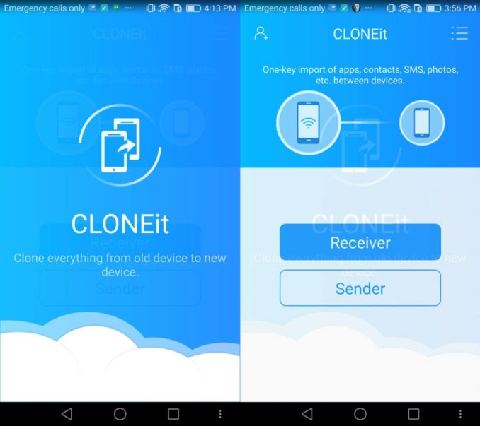 CLONEit APK interface
