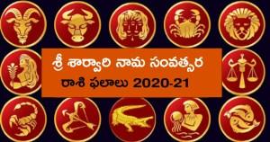 శ్రీ శార్వరి నామ సంవత్సర రాశి ఫలాలు 2020