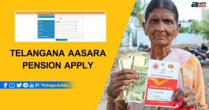 Telangana Aasara Pension 2021 Apply