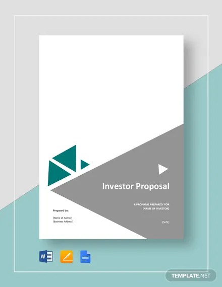 Investor Proposal Template Download 203 Proposals In Microsoft Word Apple Pages Google Docs