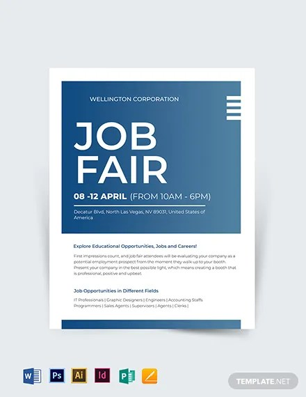 Free Job Fair Flyer Template Word Psd Apple Pages