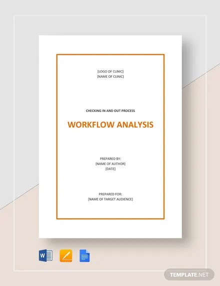 Workflow Analysis Template Word Doc Google Docs