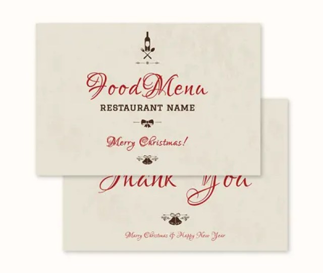 Free Vintage Christmas Thank You Card Template
