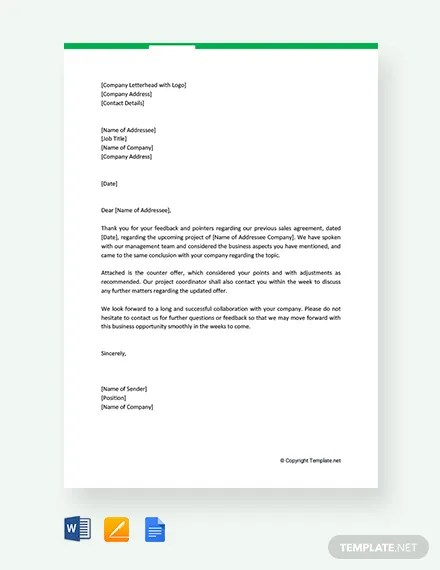 44 Free Offer Letter Templates Word Google Docs