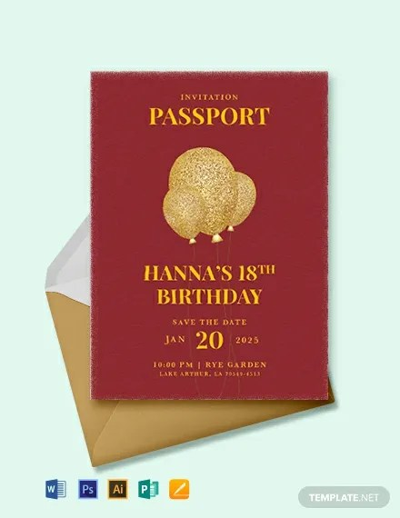 17 Passport Invitation Templates Free Sample Example