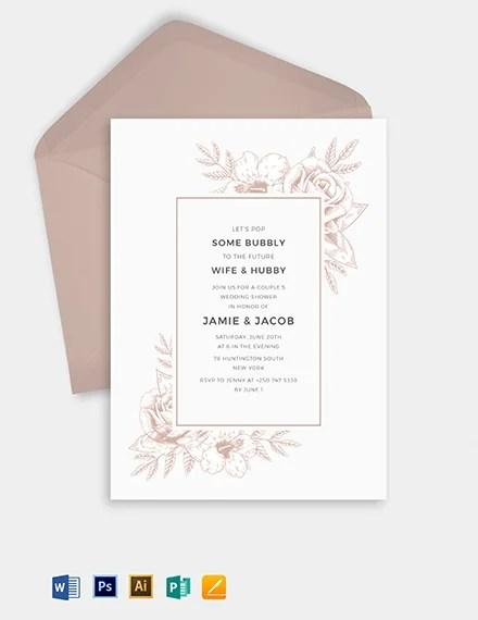 27 Wedding Shower Invitation Templates