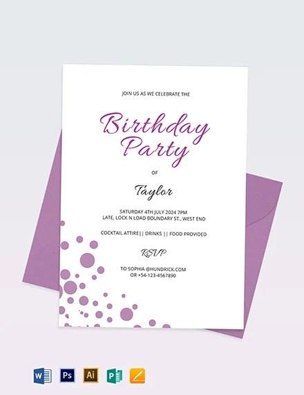 16 Birthday Invitation Cards