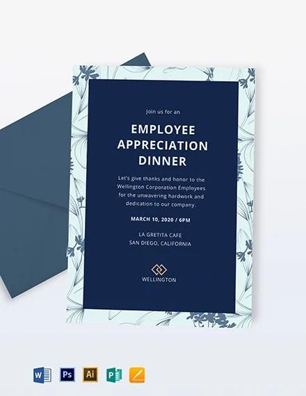 Employee Appreciation Dinner Invitation Template Word