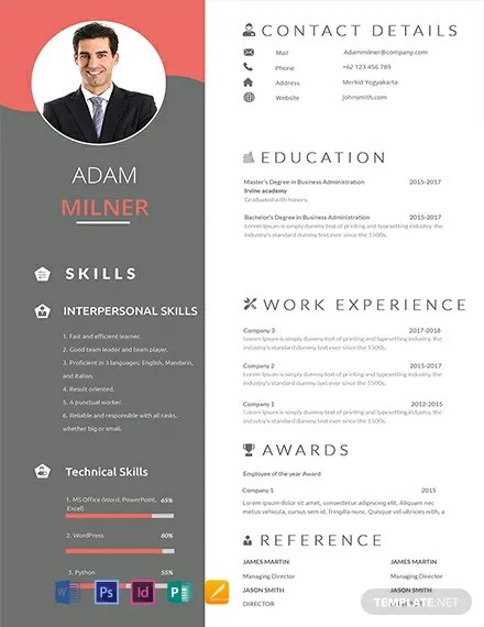 Free Resume Templates In Microsoft Publisher Template Net