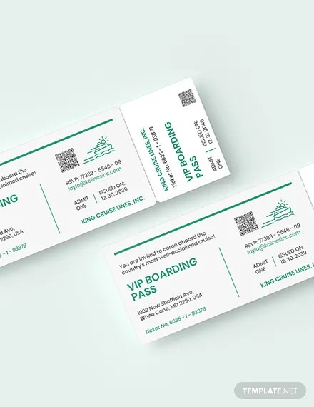 Cruise Ticket Invitation Template Word Psd Apple Pages